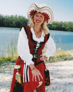 Mary Ann Jung as Grace O'Malley, the Pirate Queen